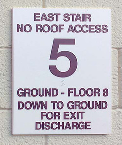 STAIRWELL DIRECTIONAL SIGN